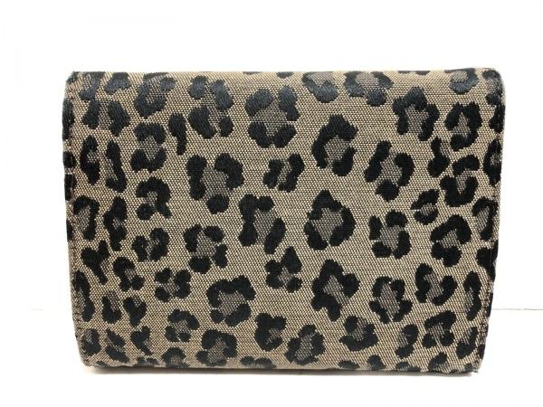 フェンディ 3つ折り財布 - 8M0001 ベージュ×黒 豹柄 ジャガード 2