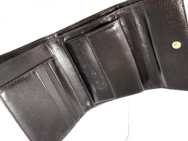 フェンディ 3つ折り財布 - 8M0001 ベージュ×黒 豹柄 ジャガード 3