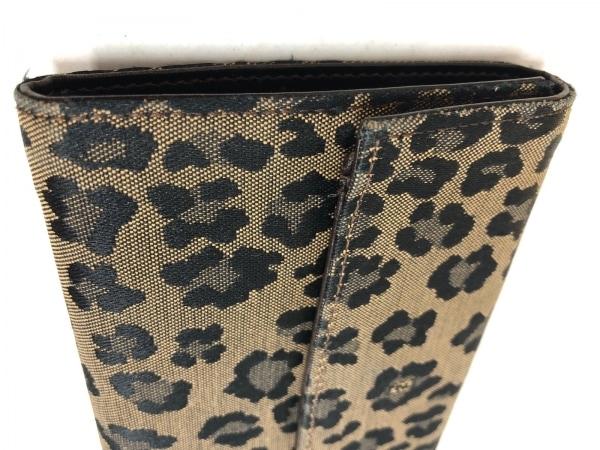 フェンディ 3つ折り財布 - 8M0001 ベージュ×黒 豹柄 ジャガード 9