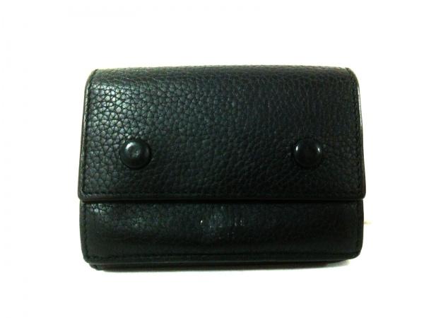 CELINE(セリーヌ) 3つ折り財布 - 黒 レザー 1
