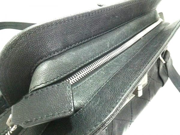 シャネル ショルダーバッグ 2.55/ワイルドステッチ 黒 シルバー金具 8