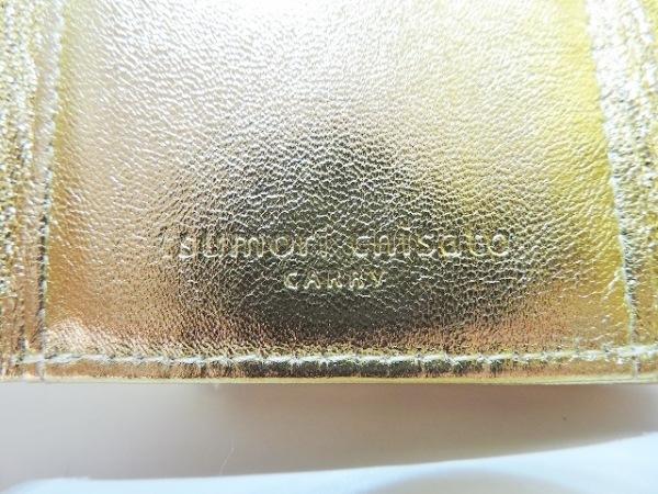 ツモリチサトキャリー 3つ折り財布美品  ゴールド レザー 5