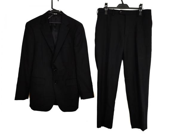 コムサメン シングルスーツ サイズL メンズ 黒 ストライプ 1