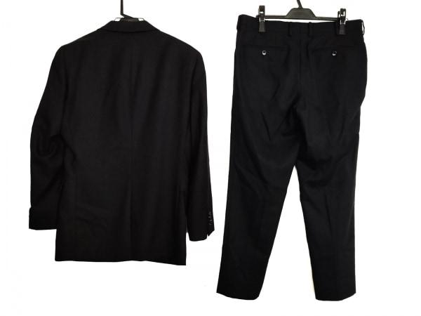 コムサメン シングルスーツ サイズL メンズ 黒 ストライプ 2