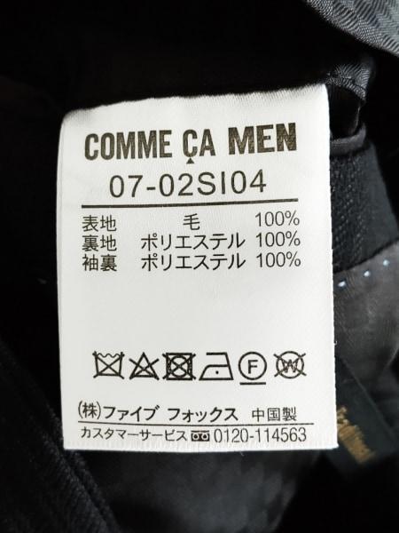 コムサメン シングルスーツ サイズL メンズ 黒 ストライプ 4