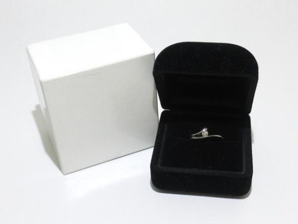 ノーブランド リング Pt900×ダイヤモンド 総重量:3.1g/015刻印 8
