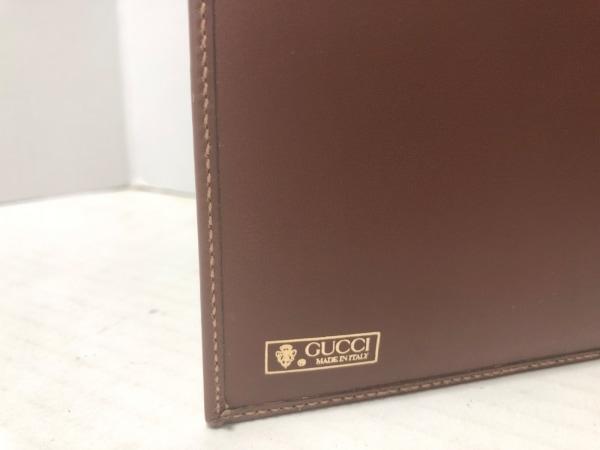 グッチ 手帳 オールドグッチ/マイクロGG ライトブラウン×ブラウン 4