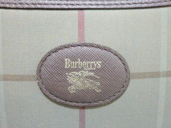 バーバリーズ ショルダーバッグ カーキ×ダークブラウン×マルチ 8