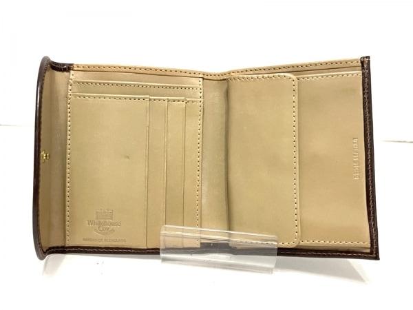 ホワイトハウスコックス 3つ折り財布 - ダークブラウン レザー 3