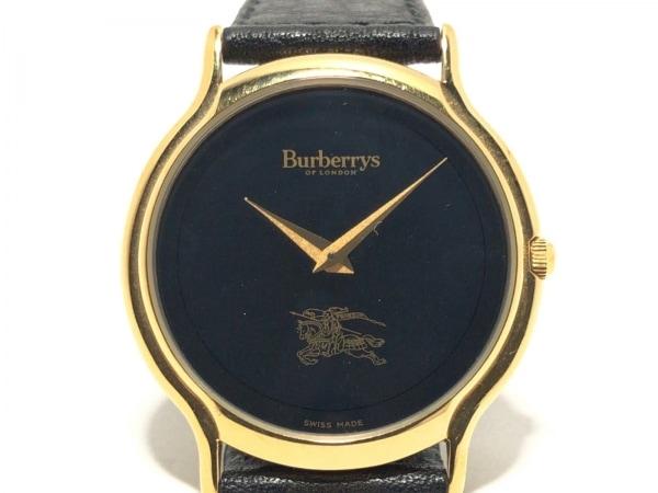 Burberry's(バーバリーズ) 腕時計 レディース 革ベルト 黒 1