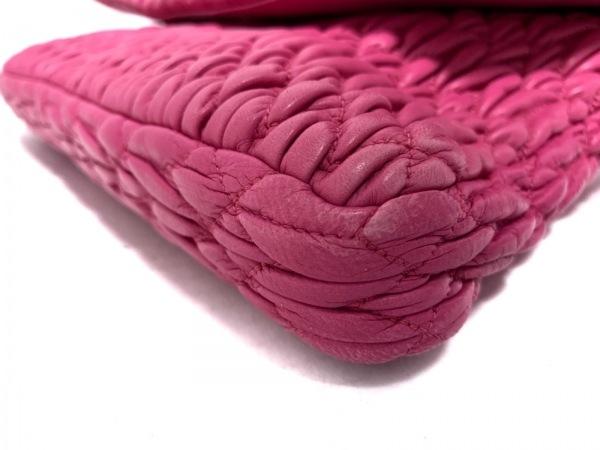ミュウミュウ ショルダーバッグ ギャザーバッグ 5BD169 ピンク 5