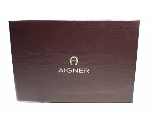AIGNER(アイグナー) 3つ折り財布 ピンク×レッド ハート レザー 7