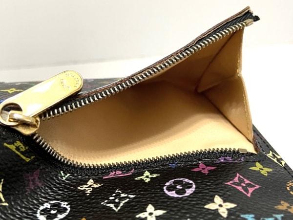 ルイヴィトン 3つ折り財布 モノグラムマルチカラー M58015 ノワール 4