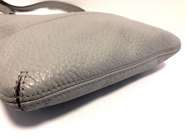ケイトスペード ショルダーバッグ美品  - WKRU1769 グレー レザー 4