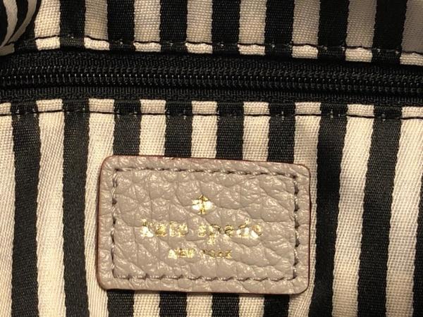 ケイトスペード ショルダーバッグ美品  - WKRU1769 グレー レザー 8