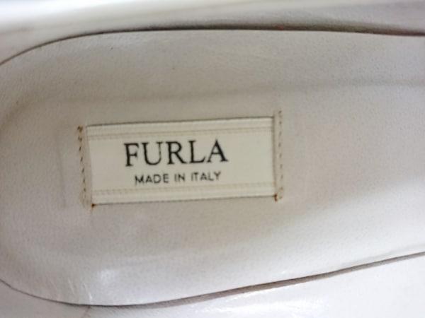 FURLA(フルラ) パンプス 37 1/2 レディース ネイビー×白 レザー 5