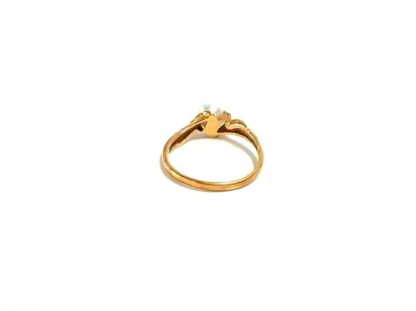 ノーブランド リング美品  K18×ダイヤモンド×パール 白 3