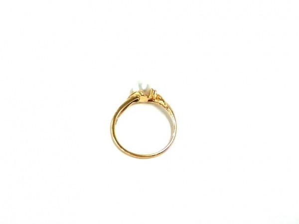 ノーブランド リング美品  K18×ダイヤモンド×パール 白 4