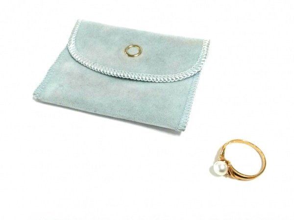 ノーブランド リング美品  K18×ダイヤモンド×パール 白 5