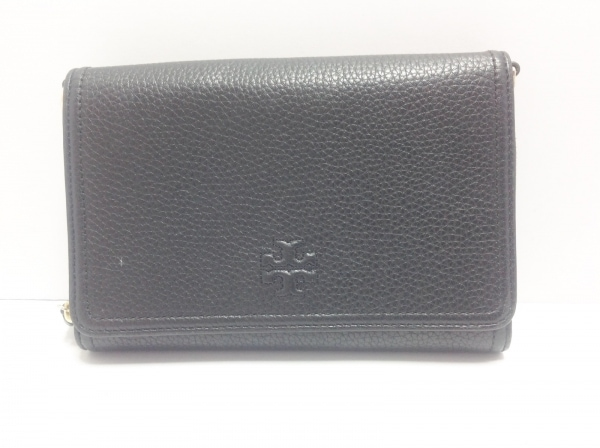 トリーバーチ 財布 黒 ショルダーウォレット/ラウンドファスナー 1