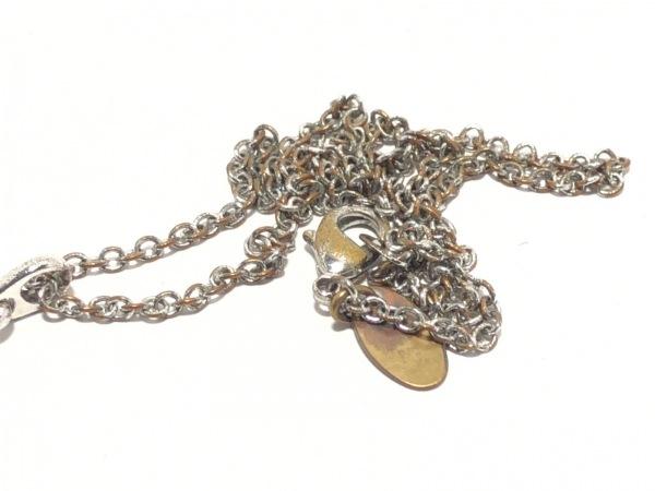 ヴィヴィアンウエストウッド ネックレス 金属素材 シルバー×ピンク 6