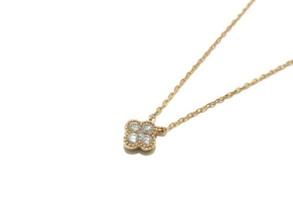 ヴァンドーム青山 ネックレス美品  K18PG×ダイヤモンド 5Pダイヤ 1