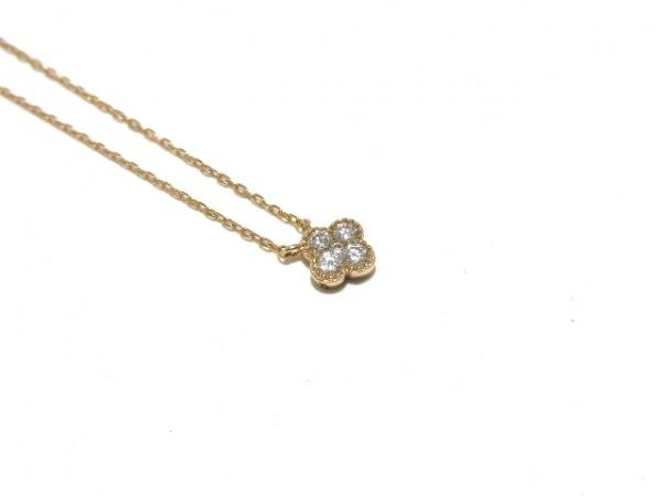 ヴァンドーム青山 ネックレス美品  K18PG×ダイヤモンド 5Pダイヤ 8