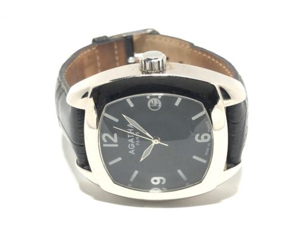 アガタ 腕時計 860100.2-C03 レディース 革ベルト/型押し加工 黒 2