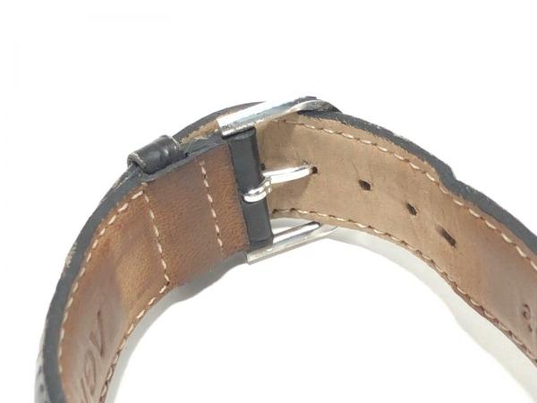アガタ 腕時計 860100.2-C03 レディース 革ベルト/型押し加工 黒 5