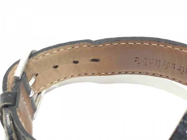 アガタ 腕時計 860100.2-C03 レディース 革ベルト/型押し加工 黒 6