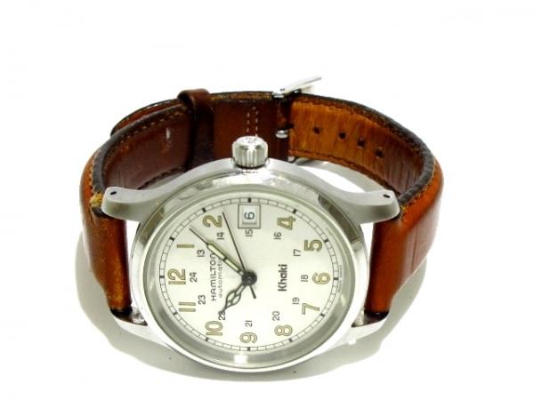 ハミルトン 腕時計 カーキ 9721A メンズ 革ベルト/裏スケ シルバー 2