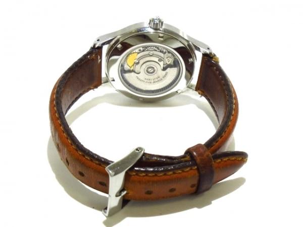 ハミルトン 腕時計 カーキ 9721A メンズ 革ベルト/裏スケ シルバー 3