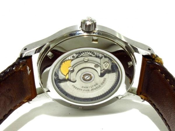 ハミルトン 腕時計 カーキ 9721A メンズ 革ベルト/裏スケ シルバー 4