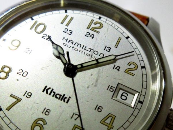 ハミルトン 腕時計 カーキ 9721A メンズ 革ベルト/裏スケ シルバー 8