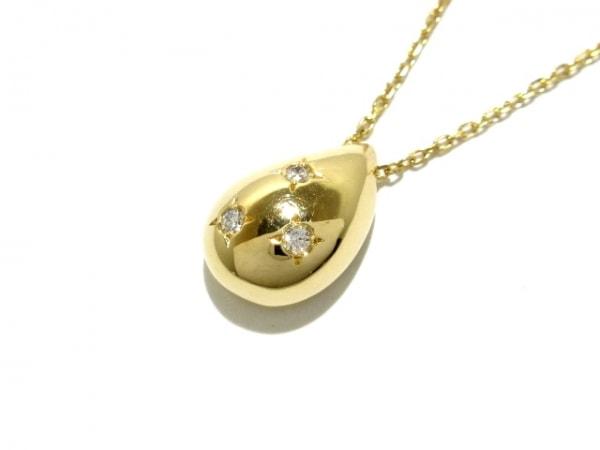 mikimoto(ミキモト) ネックレス美品  K18YG×ダイヤモンド 1
