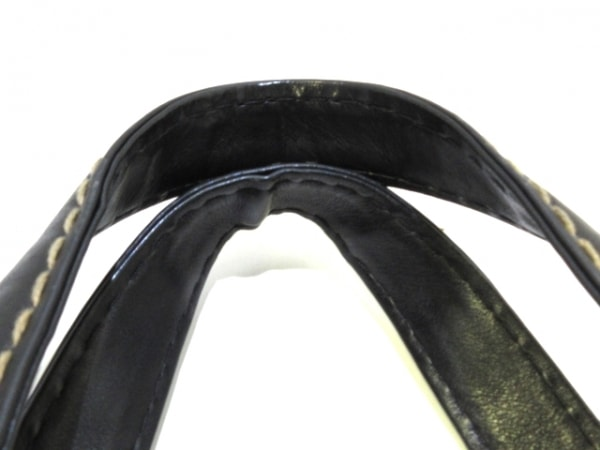 シャネル ハンドバッグ ワイルドステッチ A14693 黒 ラムスキン 5
