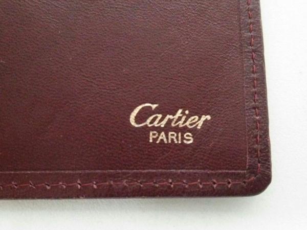 Cartier(カルティエ) 札入れ マストライン ボルドー×ゴールド 5