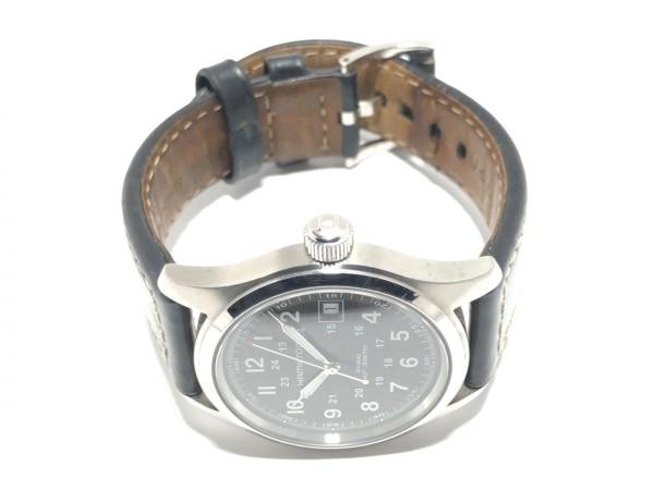 HAMILTON(ハミルトン) 腕時計 カーキ H704450 メンズ 裏スケ 黒 2