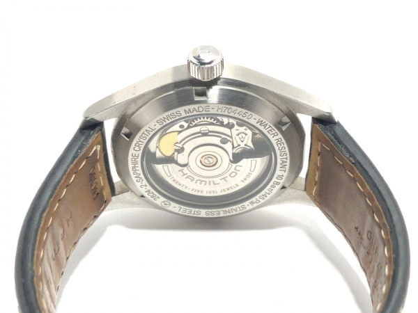HAMILTON(ハミルトン) 腕時計 カーキ H704450 メンズ 裏スケ 黒 4