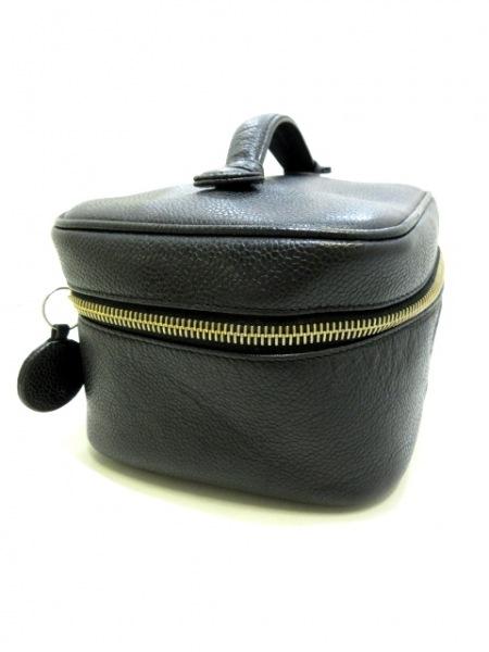 シャネル バニティバッグ - A01997 黒 ゴールド金具 キャビアスキン 2