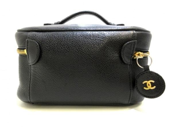 シャネル バニティバッグ - A01997 黒 ゴールド金具 キャビアスキン 3