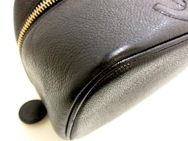 シャネル バニティバッグ - A01997 黒 ゴールド金具 キャビアスキン 4