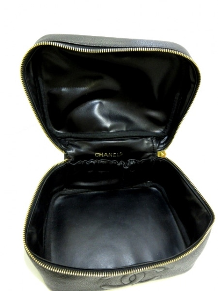 シャネル バニティバッグ - A01997 黒 ゴールド金具 キャビアスキン 6