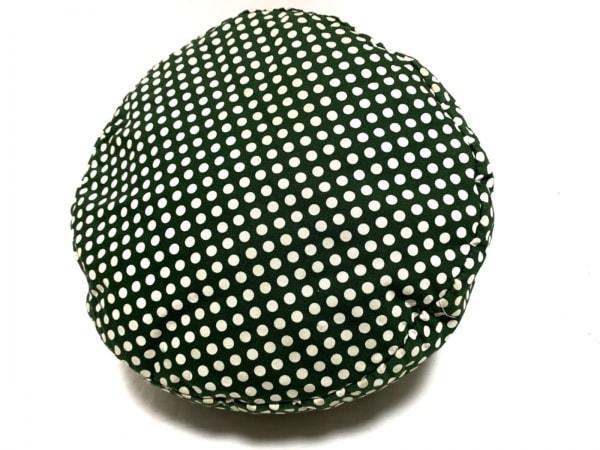 ピンクハウス ハンドバッグ - ダークグリーン×白 ドット柄/リボン 4