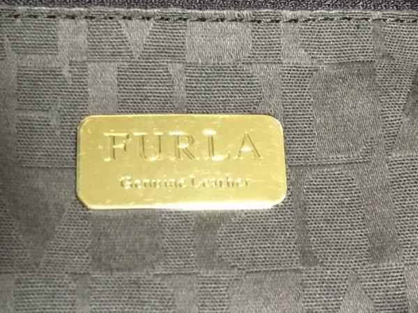 フルラ トートバッグ - ブラウン×ダークブラウン 型押し加工 レザー 8