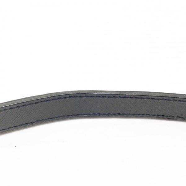 イヴサンローラン - 黒 型押し加工 エナメル(レザー)×レザー 6