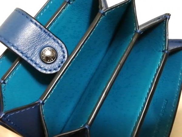 COACH(コーチ) 名刺入れ美品  - 不鮮明 ブルー レザー 3
