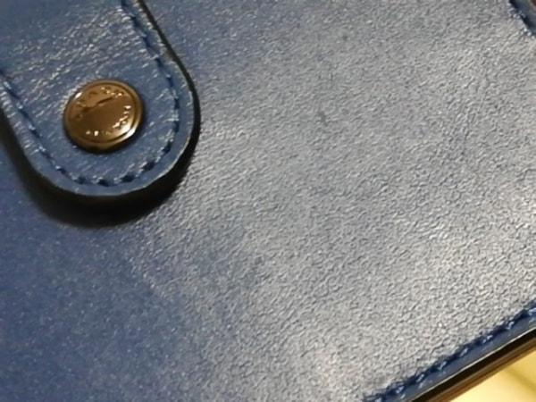 COACH(コーチ) 名刺入れ美品  - 不鮮明 ブルー レザー 5