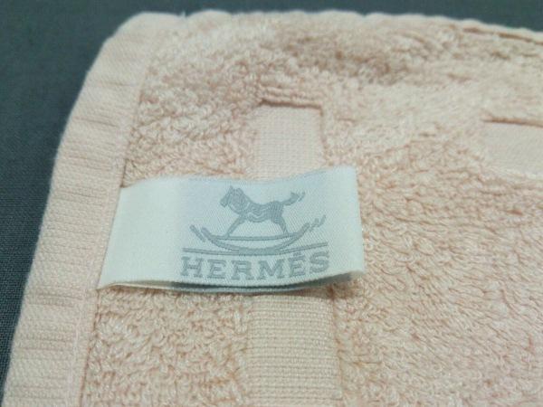 HERMES(エルメス) 小物美品  - ライトピンク ハンドタオル 3