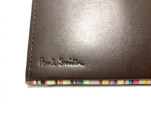 PaulSmith(ポールスミス) パスケース美品  - ダークブラウン レザー 4